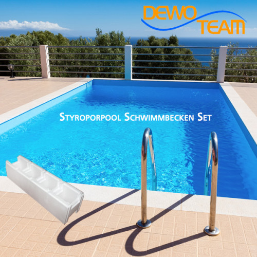 Styroporpool XL 1000x400x150cm Set